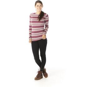 Smartwool Merino 250 Pattern Sous-couche t-shirt manches longues à col ras-du-cou Femme, habanero margarita